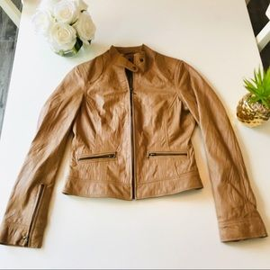 Forever 21 Tan Leather Jacket